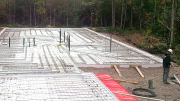 McNabb Construction Heated Floors Job Site